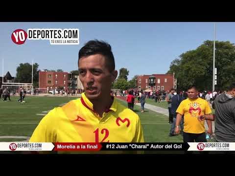 Juan Enrique de la Cruz El Charal autor del gol Morelia vs Nacional en CLASA