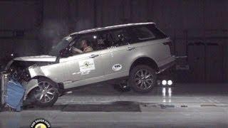 видео Краш тест Range Rover 2012. Пять звезд.