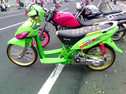 modifikasi mio street racing terbaru