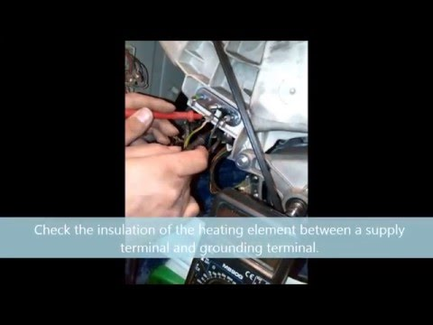Indesit F07 error heat element check and change.