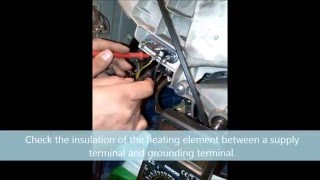 indesit f07 error heat element check and change