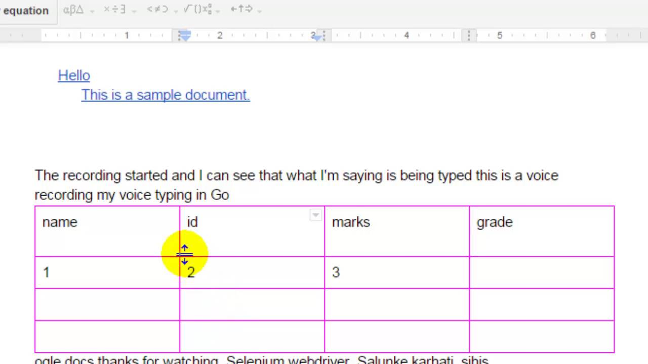 How to change the border size of table in Google Docs - YouTube