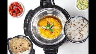 Cosori Instant Pot Rice + Lentil - Daal Chawal (Pot-in-Pot method)Video Recipe | Bhavna