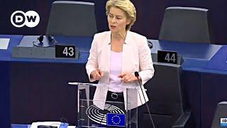EU Parliament : Statement by the candidate for President of the Commission Ursula von der Leyen