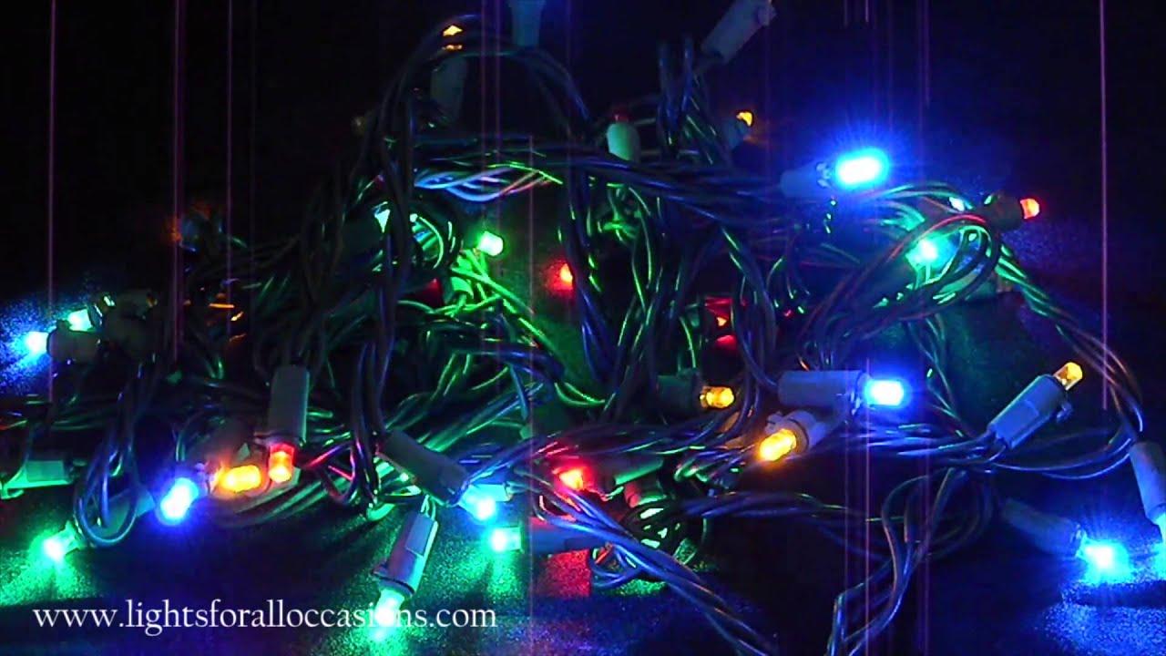 string lights 50 multicolor polka dot leds with random twinkle demo youtube - Random Twinkle Christmas Lights