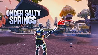 'NEW' UNDER SALTY SPRINGS GLITCH IN FORTNITE SEASON 7 - FORTNITE UNDER THE MAP GLITCH