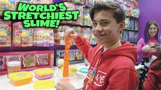 WORLD'S STRETCHIEST SLIME!!! Toy Fair 2019 ORB & Far Out Toys!