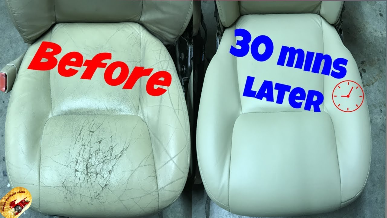How To Repair The NASTIEST Leather & Vinyl Seats.Back To PERFECT!