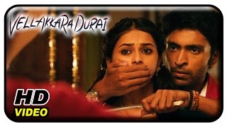 Vellaikaara Durai Movie Scenes | Vikram Prabhu falls for Sri Divya | Soori | John Vijay