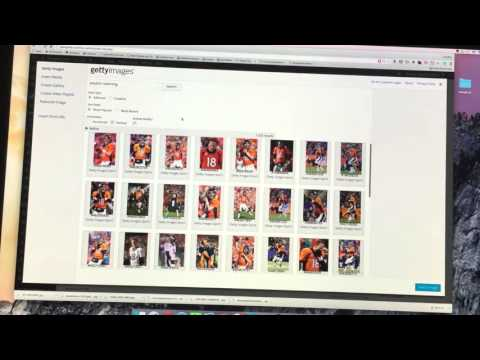 Adding images with Getty images