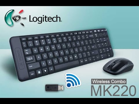 Keyboard & Mouse Wireless - Logitech mk220