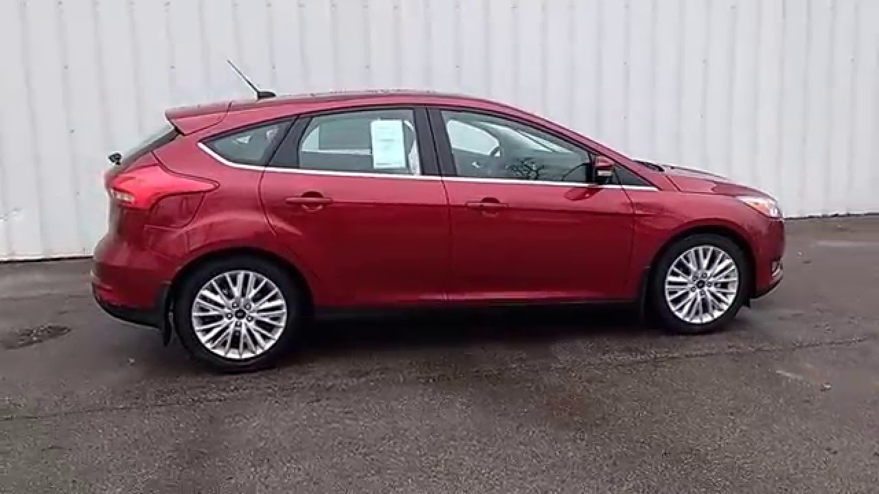 Ruby Red 2016 Focus Anium Hatchback Ceramic Tech Pkg Moonroof Nav Marshall Ford