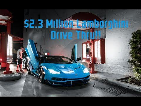 Drive Thru in a $2.3 Million Lamborghini Centenario!!