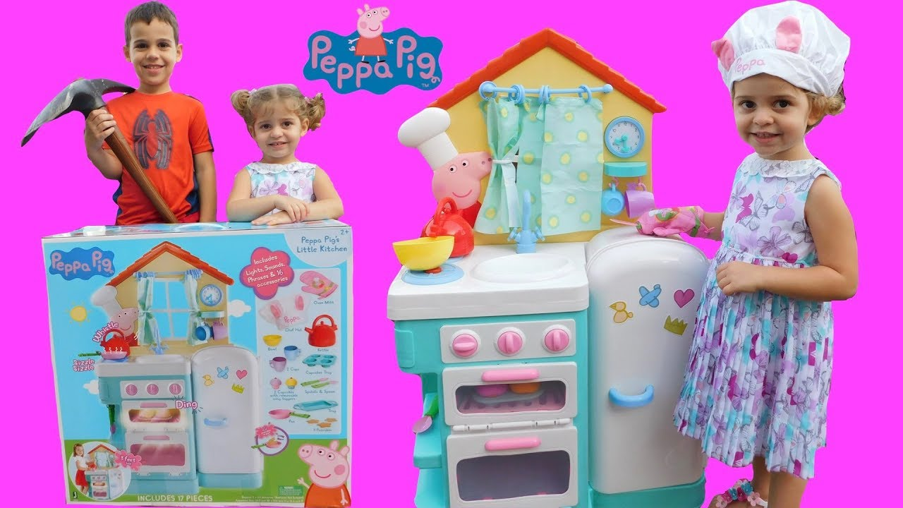 Unboxing Peppa Pig S Little Kitchen Playset
