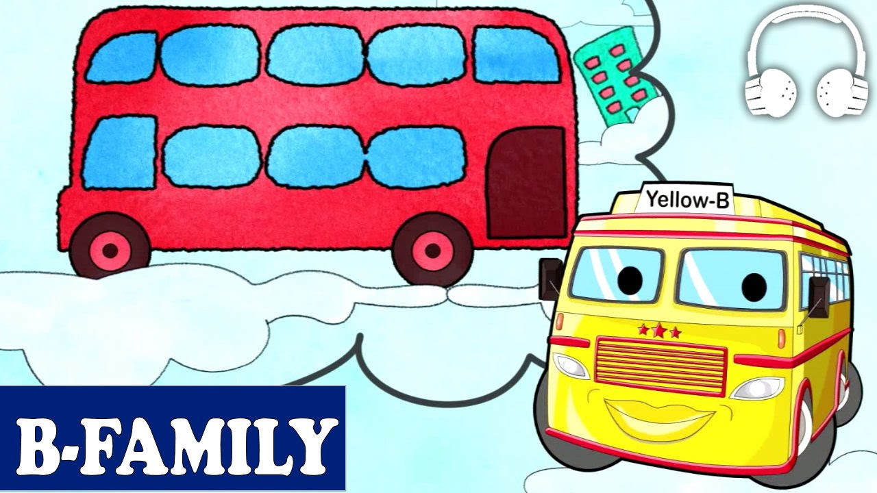 B-Family] Wheels On The Bus (Picture Book) | Muffin Songs - YouTube