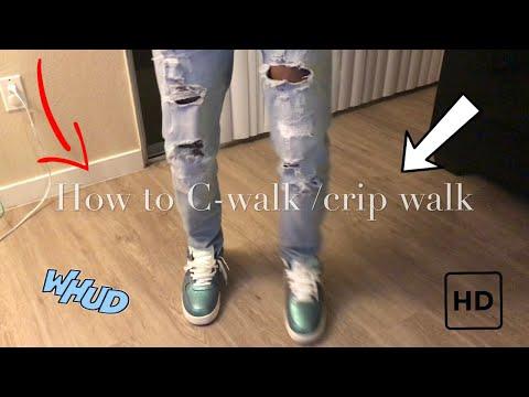 How To Crip Walk /C-walk Tutorial Reaction Vid Funniest Ever