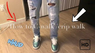 How To Crip Walk /C-walk Tutorial Reaction Vid Funniest Ever