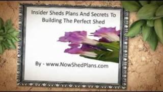Sheds Plans Secrets