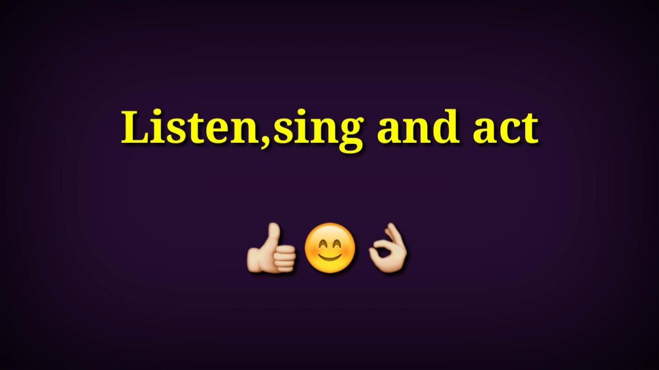 listen sing act youtube