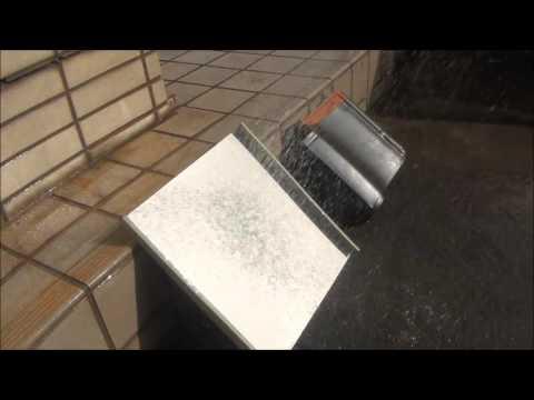 石州瓦シバオ 陶器瓦&金属屋根材 雨音の比較