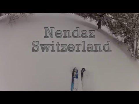 Nendaz powder skiing 2016