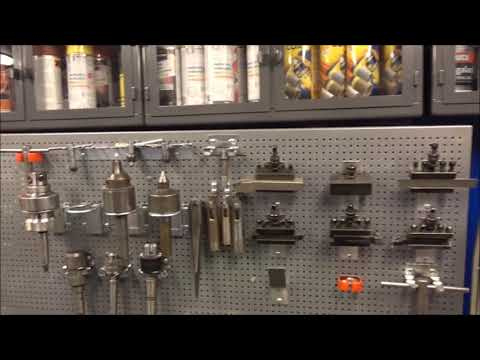 Shipping container metal shop tool storage