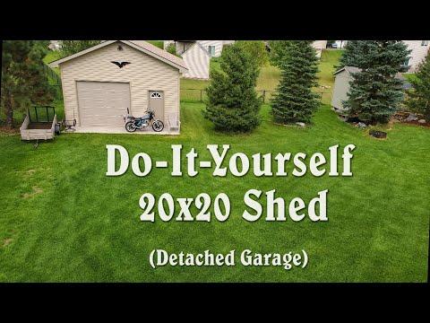 DIY 20x20 Shed (Building A Detached Garage) Time-Lapse