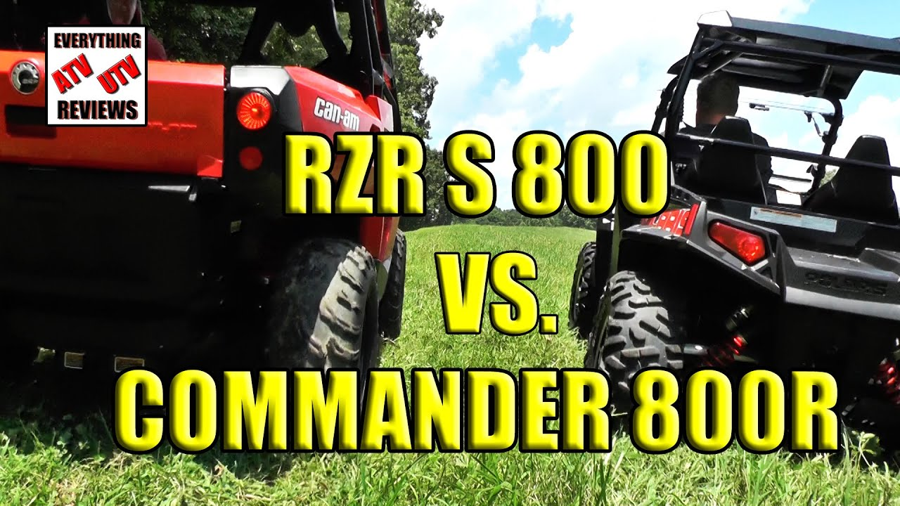 Rzr S 800 and Can Am Commander 800 COMPARISON (Full Version) - YouTube