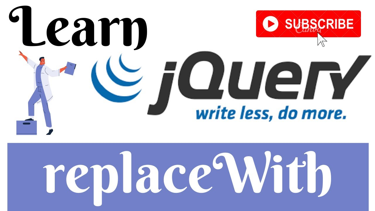 jQuery Lecture  - 26 ReplaceWith Method Tutorial in Hindi / Urdu