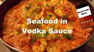 How to cook easy seafood in vodka cream sauce recipe