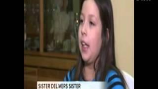 9 Yaşında Kardeşinin Ebesi Oldu   Dünya Videoları   Habertürk Video