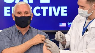 video: Mike Pence vaccinated for Covid-19 live on television