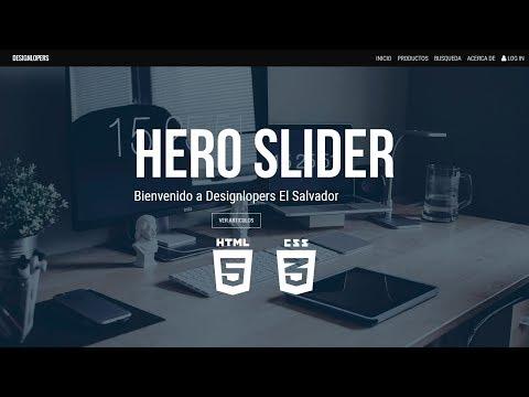 Hero Slider | Banner Animado | HTML CSS  | No JS