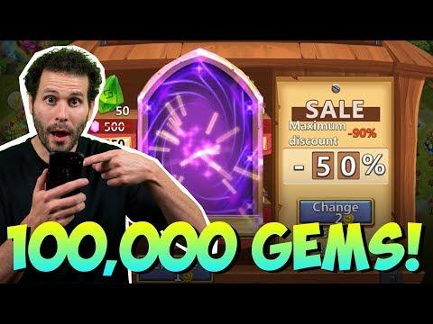 JT's Main 100k Gems Hero Collector + Discount Store Castle Clash