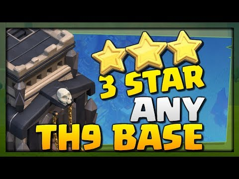 THREE STAR ANY TOWNHALL 9! Lavaloon TH9 Strategy Guide - Clash of Clans War Attacks - CoC 2017