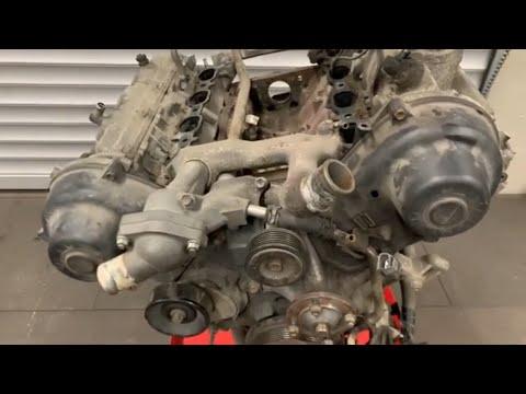 Капремонт мотора TOYOTA 2UZFE часть 1 разборка