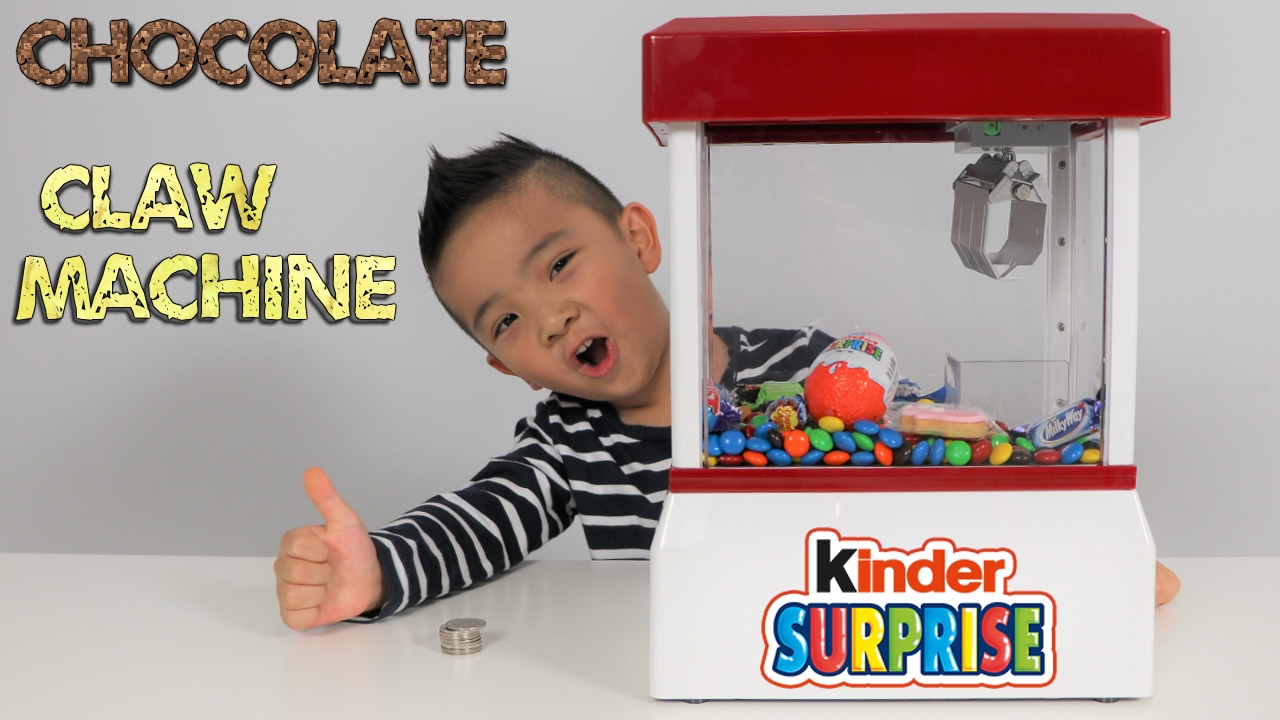 Chocolate Candy Claw Machine Fun With Kinder Surprise Egg