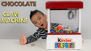 Chocolate Candy CLAW MACHINE Fun With Kinder Surprise Egg Peppa Pig Cookie Chupa Chups M's Ckn Toy