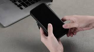아이폰 11 12 미니 프로 맥스 스웨이드 지갑 케이스