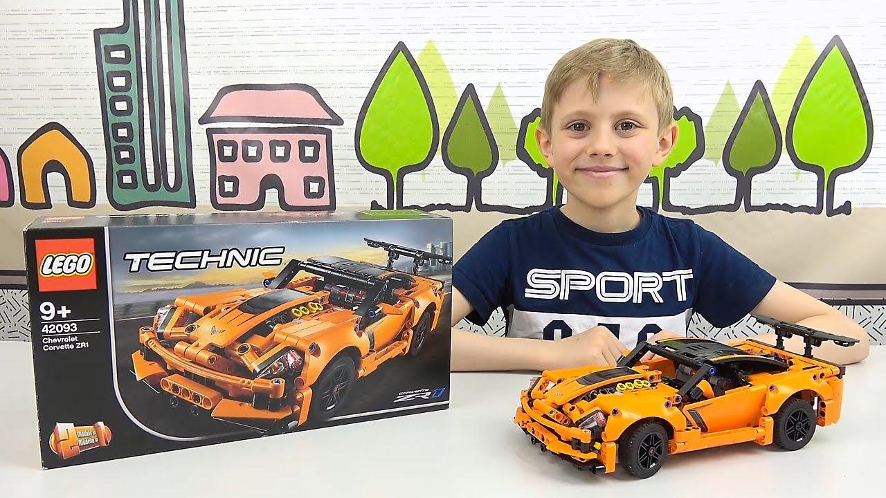 LEGO Technic 42093 Chevrolet Corvette ZR1 - Спорткар для ценителей лего и крутых машин! Даник и ЛЕГО