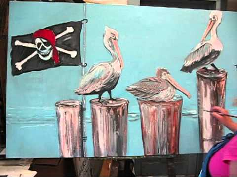 Painting Pelicans By Sherry Thurston