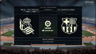 Real Sociedad Vs Barcelona - LA LIGA - FIFA 21