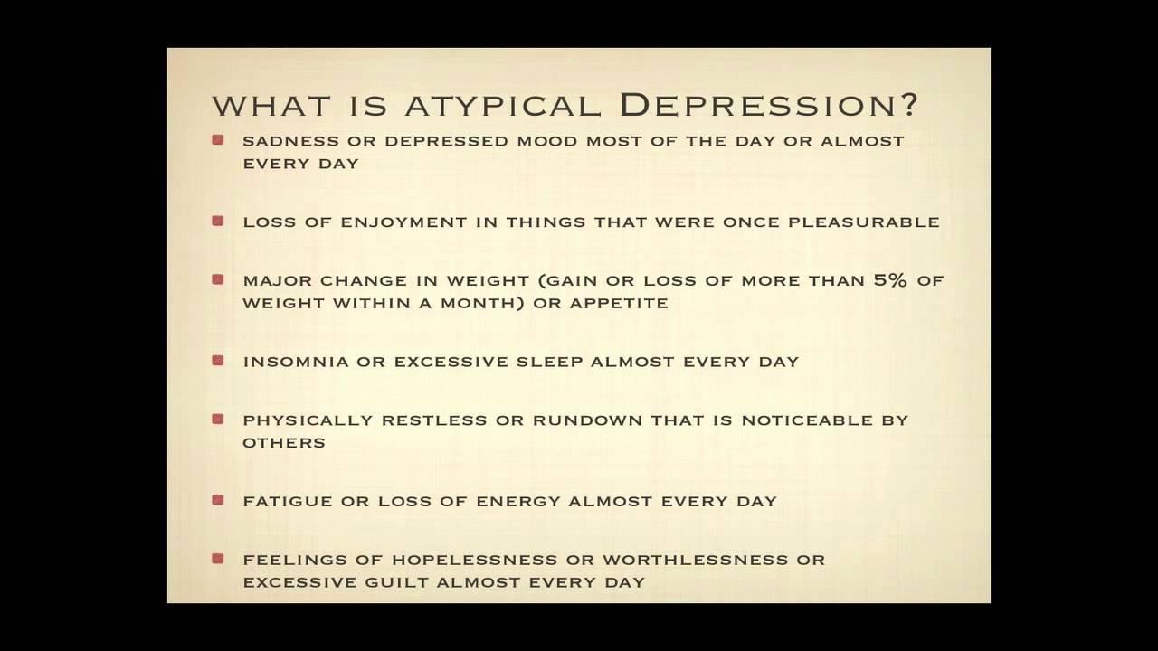 Understanding Atypical Depression
