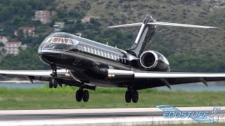 epic all black bombardier bd 700 1a10 global express vq bki landing at split airport spu ldsp