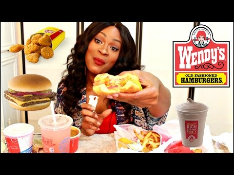 MUKBANG: MY FAVORITE FOODS AT WENDY'S! EATING SHOW! YUMMYBITESTV