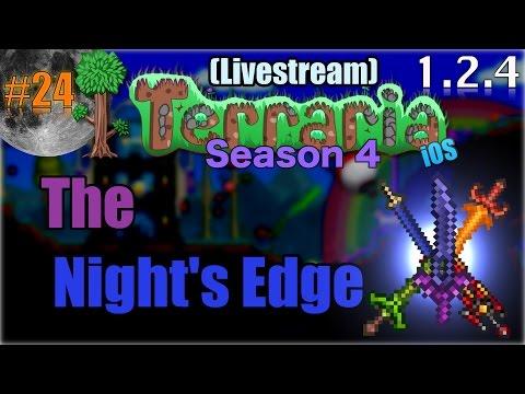 Let's Play Terraria (1.2.4) iOS- The Night's Edge! Episode 24
