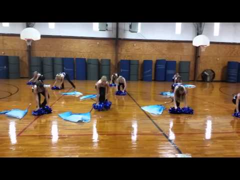 Ringling High School Flag Corp perform routine to