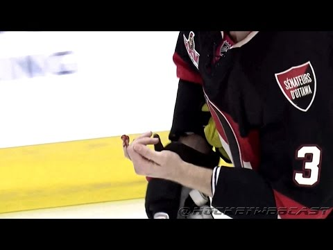 Sidney Crosby Shatters Marc Methot's Finger (Close-Up) - WARNING: Graphic Images (HD)