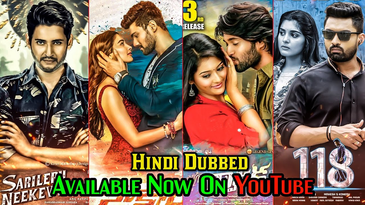 10 New South Hindi Dubbed Movies Available On YouTube | Dwaraka,Sarileru Neekkevvaru  | 188 Movie ||
