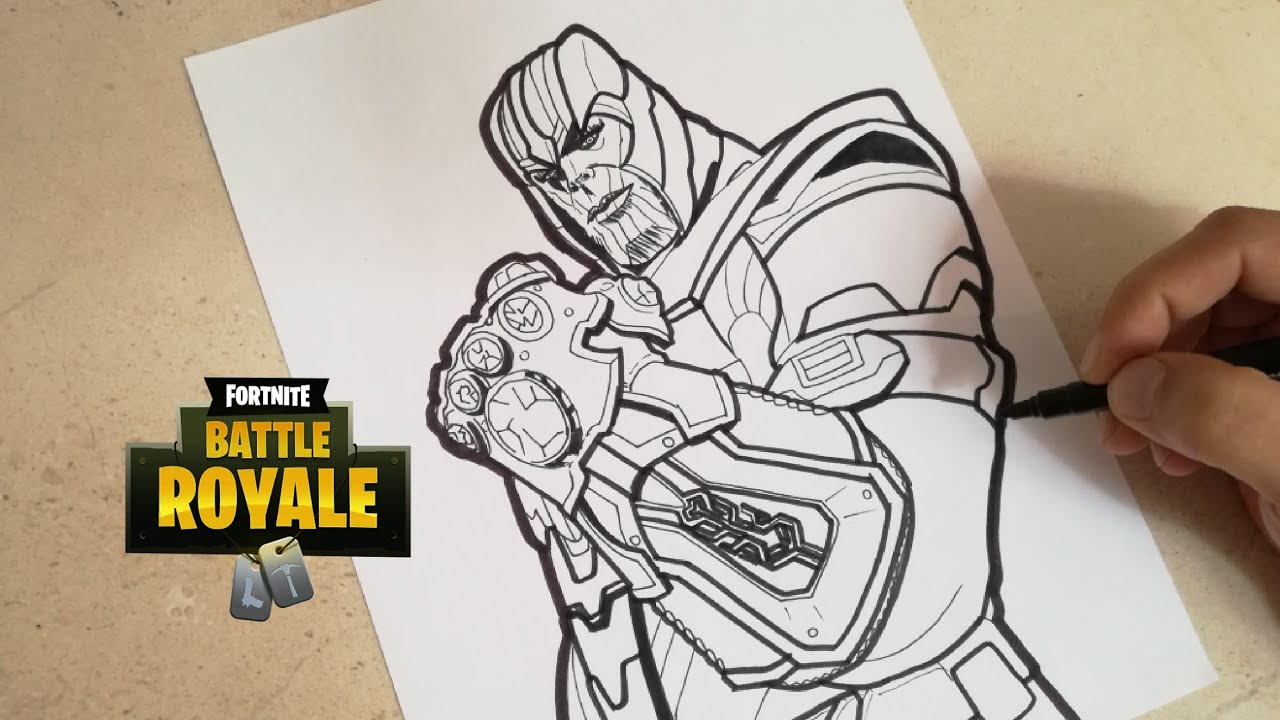 Como dibujar a thanos de fortnite how to draw thanos fortnite cunsart